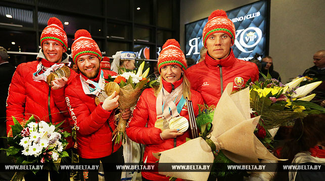 Belarusian Paralympians back home