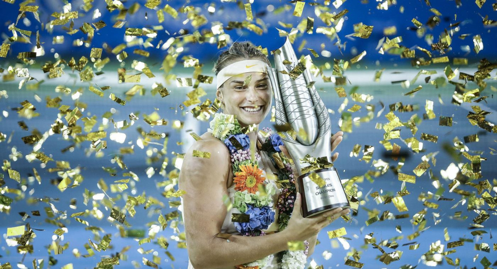 Aryna Sabalenka won the Wuhan Open in China for the second year in a row