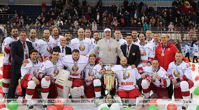 Belarus president team won Christmas tournament final