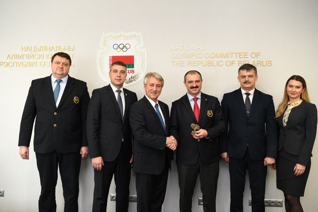 The Head of International Union of Modern Pentathlon Klaus Schormann visits Belarus