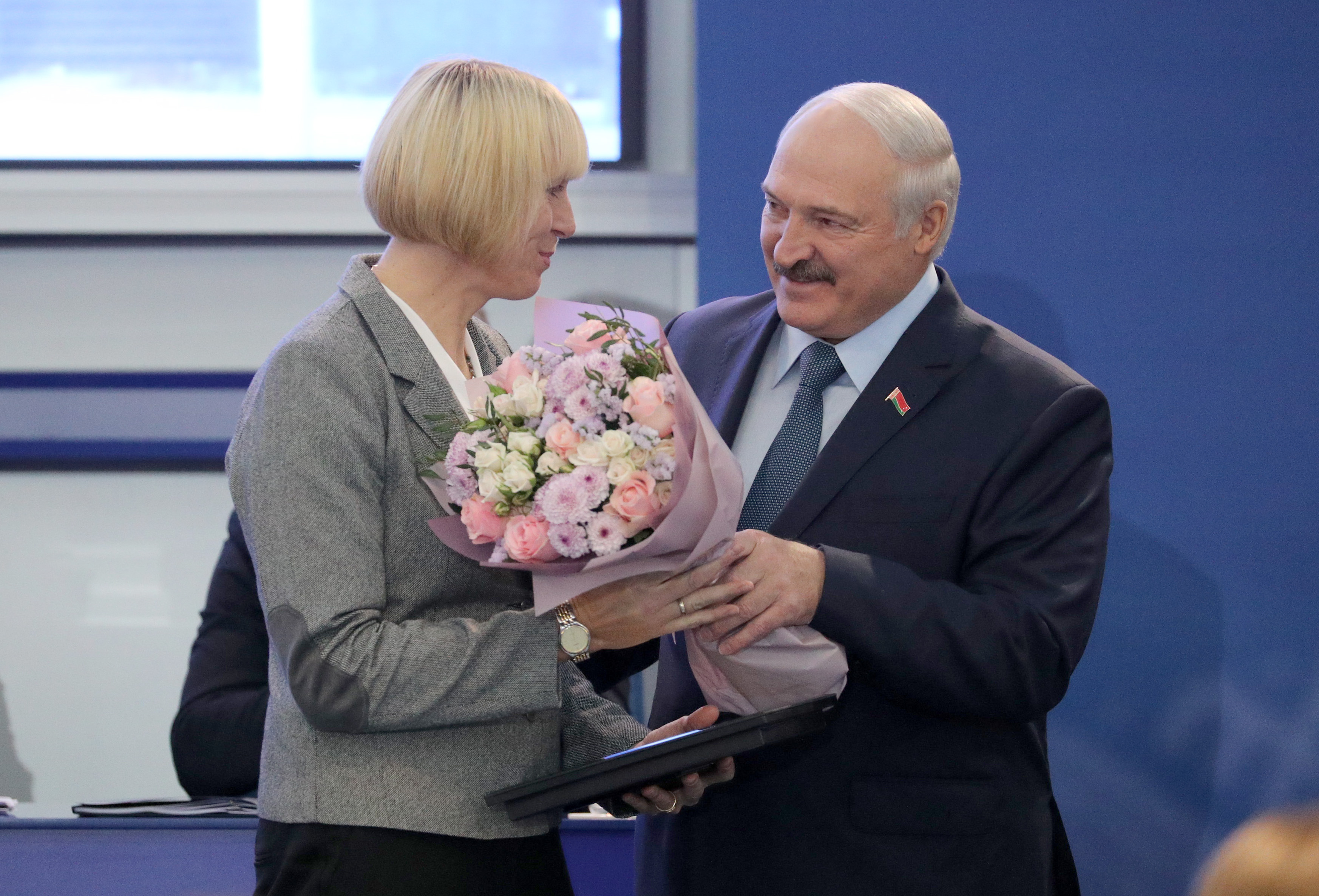 Karsten, Herasimenia honored by NOC Belarus