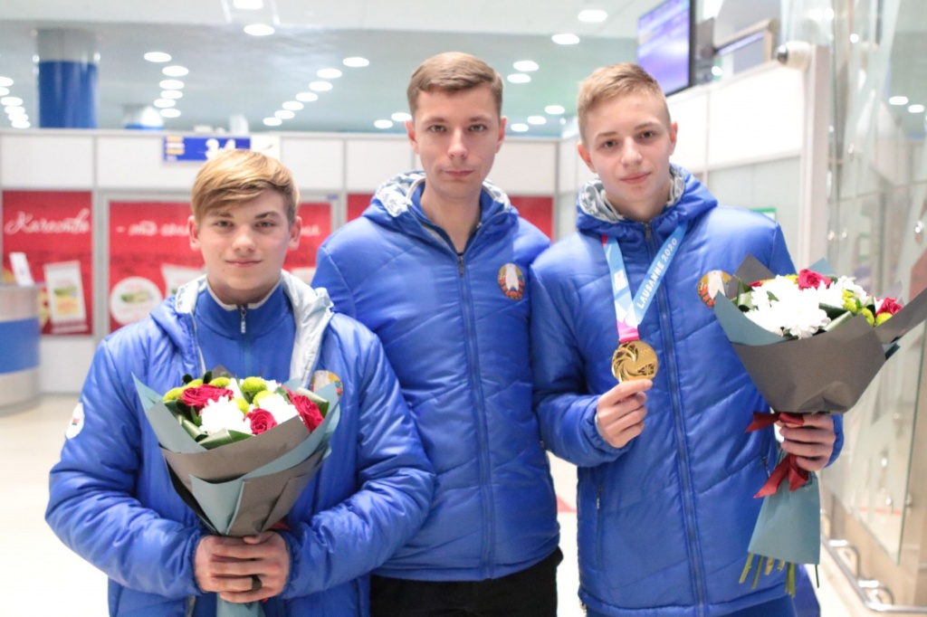Belarusian delegation from the Winter Youth Olympic Games welcomed in Minsk